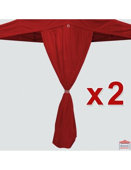 Pack de 2 RIDEAUX D'ANGLE de 2,15m pour barnum pliant de 4x4m ou 4x8m