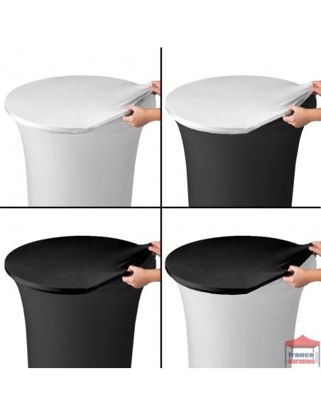 Tops noirs ou blancs pour table haute mange-debout ø80cm