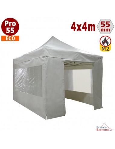Tente pliante Alu pro 55 ECO avec toit  PVC 580g/m2 et parois 380g/m2