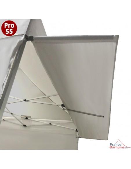 Casquette extension soleil blanche 3m en PVC 580g pour barnum pliant pro 55