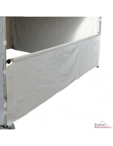 Demi-paroi de 4m en PVC 580g pour tente pliante