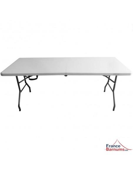 Table pliante en VALISE rectangulaire 183cm BLANCHE