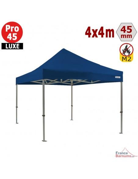 Barnum pliant - Stand pliant Alu Pro 45 LUXE M2 4mx4m BLEU 380gr/m²