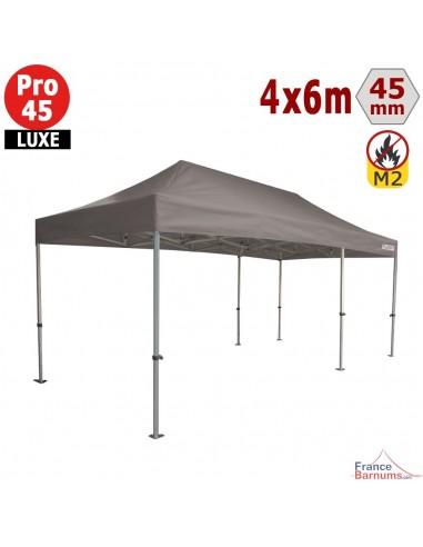 Barnum pliant - Stand pliant Alu Pro 45 LUXE M2 4mx6m TAUPE 380gr/m²