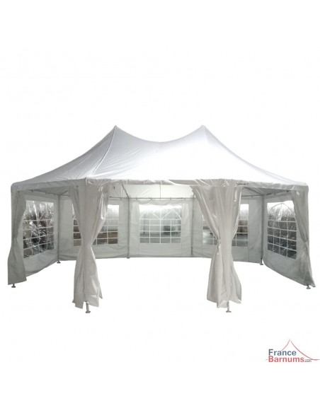 Chapiteau de festivités octogonal de 7m x 5m idéal pour toutes vos fêtes, mariage, baptême...