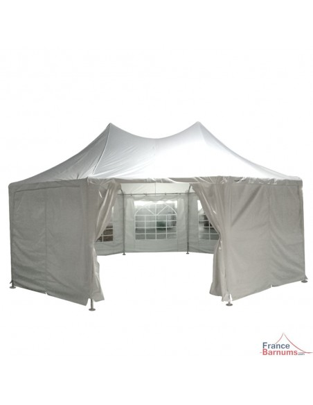Ouvert ou fermé, ce pavillon de cocktail octogonal est très pratique pour toutes vos réceptions et évènements