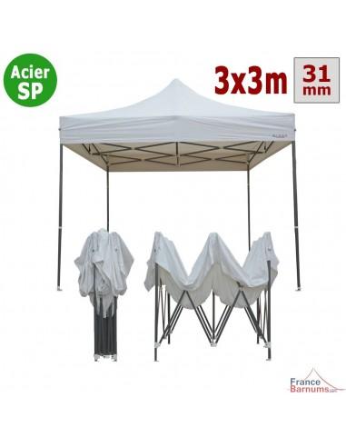 Barnum Acier Semi Pro Blanc 3x3m