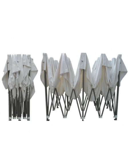 Barnum pliant - Tonnelle Acier Semi Pro 3mx6m BLANC