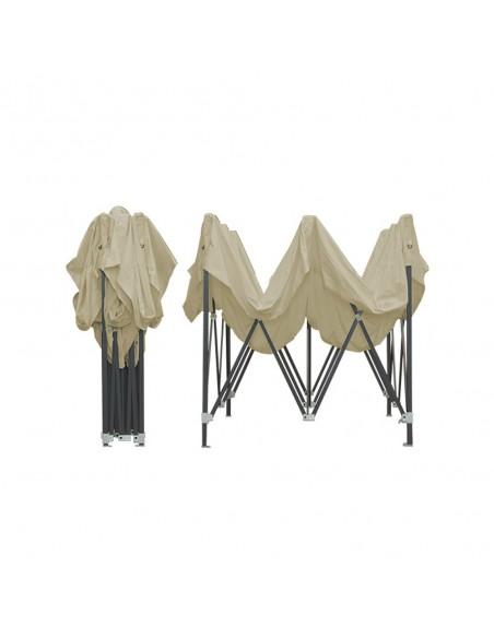 Barnum pliant - Tonnelle Acier Semi Pro 2mx2m Beige
