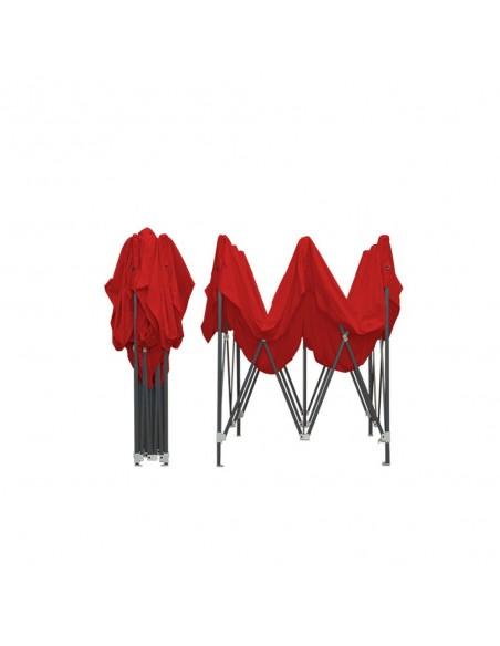 Barnum pliant - Tonnelle Acier Semi Pro 2mx2m ROUGE