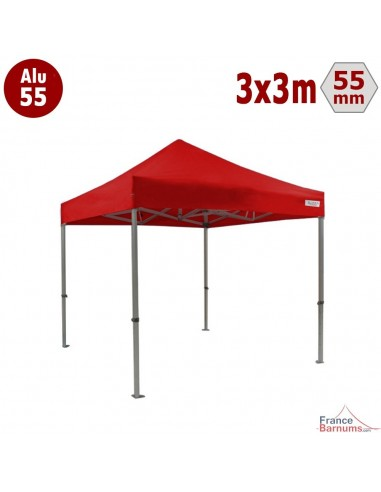 Barnum pliant Alu 55 rouge 3x3m