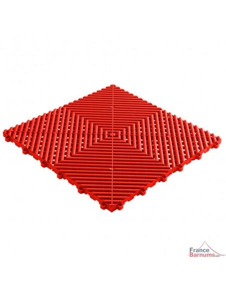 Dalles de sol à clipser de couleur rouge