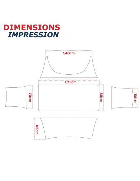 Dimension de la housse  pour  table pliante 183cm