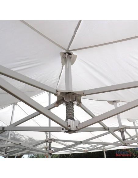 Barnum 6mx9m Blanc Alu Pro Structure Ø55mm Bâche 380g/m² Norme M2 (Polyester+PVC) 54m²