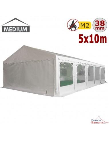 Tente de réception - Chapiteau de festivités MEDIUM en PVC de 5m x 10m avec Tubes de 38mm
