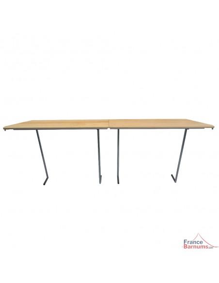 Table haute console pour barnum pliant pouvant s'utiliser comme comptoir bar buvette ou présentoir