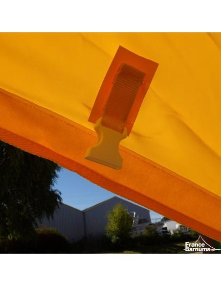 Tente de réception - Tente étoile JAUNE Diamètre 10m - Aluminium + Polyester 230g/m²