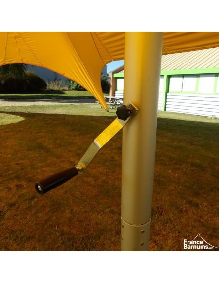 Tente de réception - Tente étoile JAUNE Diamètre 22m - 2 mâts - Aluminium + Polyester 230g/m²