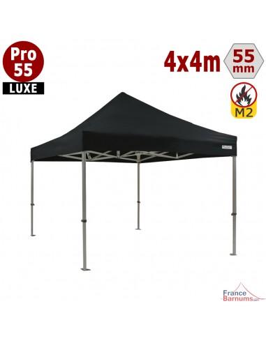 Barnum professionnel noir 4x4 avec bâche de toit en PVC 580g/m2