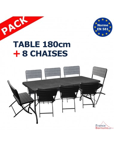lot table et chaises pliantes