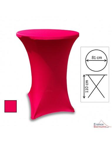 housse rouge pour table mange-debout