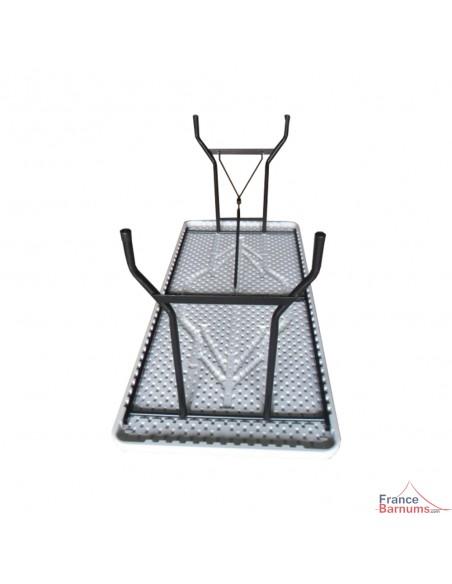 Table rectangulaire blanche de 183cm pour particuliers ou collectivités