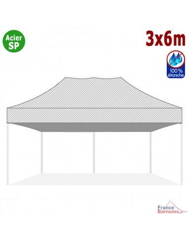 Bâche de toit BLANCHE 3x6m pour barnum pliant Gamme Acier Semi Pro