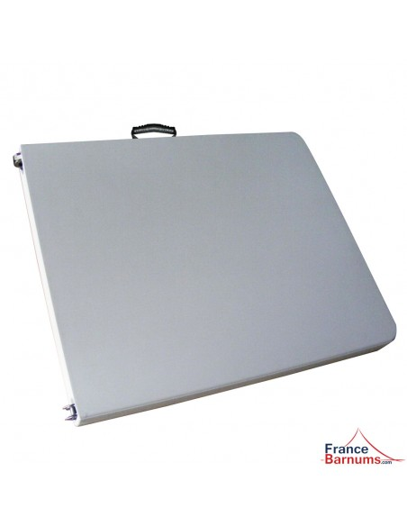 Table pliante en valise blanche 183cm