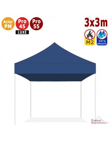 Bâche de toit bleue 3x3m en Polyester 380gr/m² norme M2