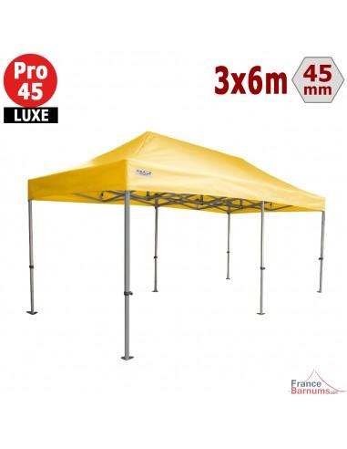 Barnum pliant - Tente pliante Alu Pro 45 LUXE 3mx6m JAUNE 380gr/m²