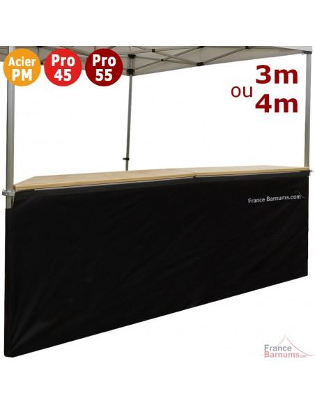 Jupe de table comptoir BUVETTE de 3m ou 4m en POLYESTER 380gr/m²
