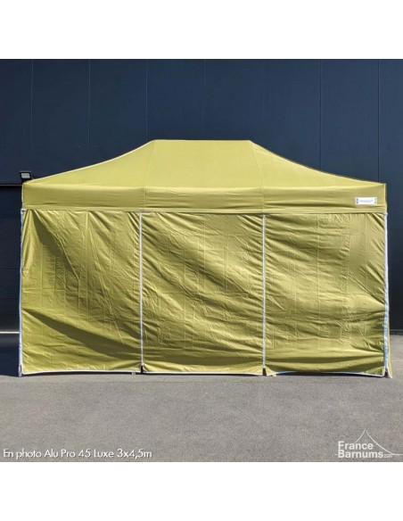 tente pliante vert doré avec murs en option