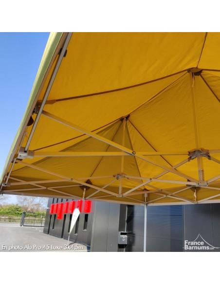 Structure aluminium barnum pliant vert doré