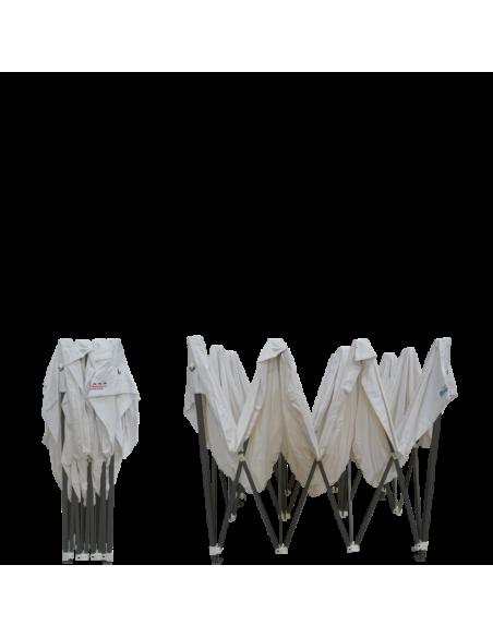 Barnum pliant - Tonnelle Acier Semi Pro 2mx3m BLANC avec Pack Fenêtres