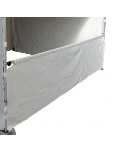 Demi-paroi de 4m blanc en 380g pour barnum pliant